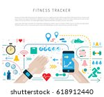 vector banner with a means of... | Shutterstock .eps vector #618912440