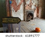 Haunted house for halloween - stock photo