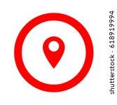 inside round navigation  gps ... | Shutterstock .eps vector #618919994