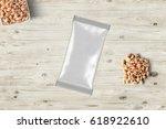 nut pack mock up  3d... | Shutterstock . vector #618922610