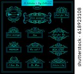 vector set of vintage banners ... | Shutterstock .eps vector #618923108