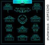 vector set of vintage banners ... | Shutterstock .eps vector #618923240