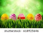 grass growing outdoors against... | Shutterstock . vector #618925646