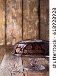 homemade chocolate cake on... | Shutterstock . vector #618928928