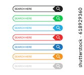 search bar field. set vector...