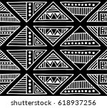 seamless vector pattern. black... | Shutterstock .eps vector #618937256