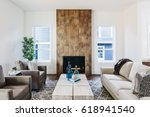 modern living room. | Shutterstock . vector #618941540