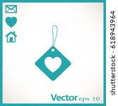 flat icon. label with heart. | Shutterstock .eps vector #618943964