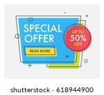 trendy flat geometric vector... | Shutterstock .eps vector #618944900