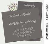 calligraphy decorative alphabet.... | Shutterstock .eps vector #618948230