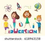 children and education banner.... | Shutterstock .eps vector #618963158