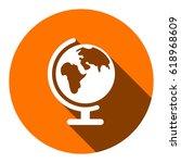 earth globe icon stock vector... | Shutterstock .eps vector #618968609