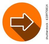 arrow icon stock vector... | Shutterstock .eps vector #618970814