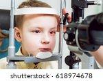 slit lamp examination....   Shutterstock . vector #618974678
