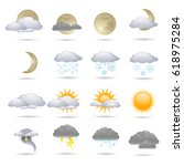 vector weather icon | Shutterstock .eps vector #618975284