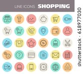 inline shopping icons collection | Shutterstock .eps vector #618977030