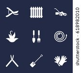 set of 9 household icons set... | Shutterstock .eps vector #618982010
