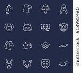set of 16 brute outline icons... | Shutterstock .eps vector #618982460