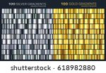 gold silver gradient pattern... | Shutterstock .eps vector #618982880