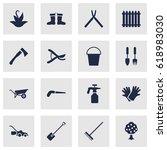 set of 16 household icons set... | Shutterstock .eps vector #618983030