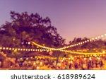 vintage tone blur image of... | Shutterstock . vector #618989624