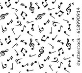 symbols of music. sixteenth ... | Shutterstock .eps vector #618990914