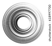 concentric circles geometric... | Shutterstock .eps vector #618997700