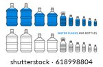 water flasks and bottles vector ... | Shutterstock .eps vector #618998804
