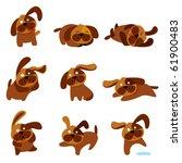 cartoon cute dogs | Shutterstock .eps vector #61900483