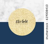 chic gold marble vector design | Shutterstock .eps vector #619008410