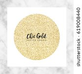 chic gold marble vector design | Shutterstock .eps vector #619008440