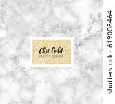 chic gold marble vector design | Shutterstock .eps vector #619008464