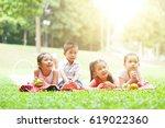 portrait of asian children... | Shutterstock . vector #619022360