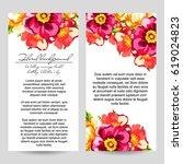 vintage delicate invitation... | Shutterstock .eps vector #619024823