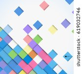 abstract colorful square mosaic ... | Shutterstock .eps vector #619032746
