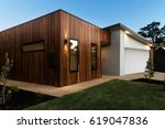 contemporary australian home... | Shutterstock . vector #619047836
