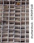 high rise construction site... | Shutterstock . vector #619049168