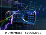 fintech investment financial... | Shutterstock . vector #619053983