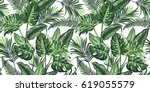 Tropical Palm Leaves Backgroun...