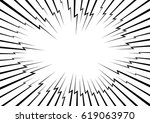 lightning bolt like radial... | Shutterstock .eps vector #619063970