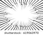 lightning bolt like radial... | Shutterstock .eps vector #619063970