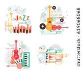 music logo. music festival ... | Shutterstock .eps vector #619068068
