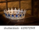 royal luxury gold crown with... | Shutterstock . vector #619072949