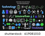 sketch science and technology... | Shutterstock .eps vector #619081010