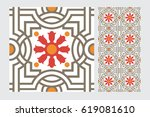 vintage antique design patterns ... | Shutterstock .eps vector #619081610