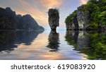 island near phuket in thailand. ... | Shutterstock . vector #619083920