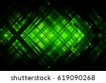 abstract green fractal... | Shutterstock . vector #619090268