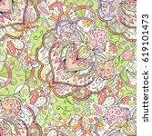 tracery seamless calming... | Shutterstock .eps vector #619101473