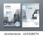 annual report brochure flyer... | Shutterstock .eps vector #619108574