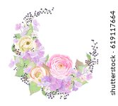 floral decoration with flowers... | Shutterstock .eps vector #619117664